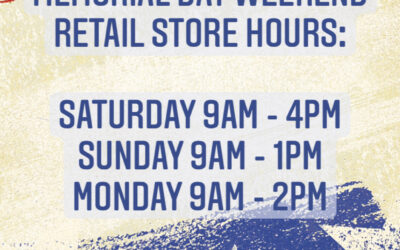MEMORIAL DAY RETAIL STORE HOURS